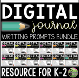 Digital Writing Journal Prompts for K-2 (Distance Learning
