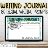 Digital Writing Journal | 180 Writing Prompts for Google Slides