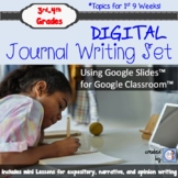 Digital Writing Journals and Mini Lesson Set for Google Drive