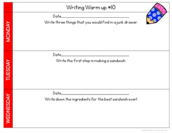 Digital Quick Writes Daily Writing Prompts 2nd Quarter
