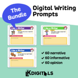 Digital Writing Prompts Bundle -  Google Slides™ & Seesaw™