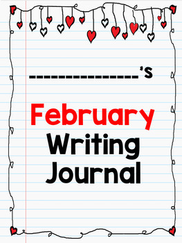Digital Writing Prompts Google Drive, Microsoft One Drive: February
