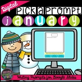 Digital Writing Prompts | January Writing Prompts for Goog