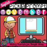 Fall Digital Writing Prompts | November Writing Prompts |