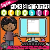 Digital Writing Prompts | October Writing Prompts | Distan