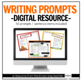 Digital Writing Prompts: Opinion, Narrative, How-To, Infor