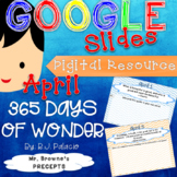 Digital Writing Prompts for 365 Days of Wonder (April)