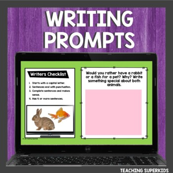 Digital Writing Prompts for April