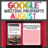 Digital Writing Prompts for August