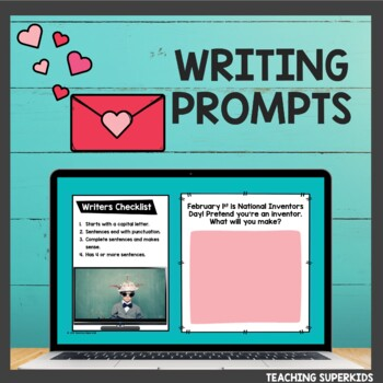 Digital Writing Prompts for February
