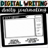 Digital Writing Prompts for Google Slides : DISTANCE LEARNING