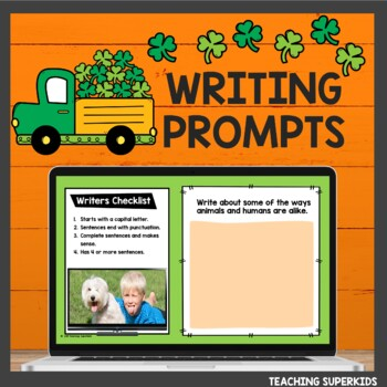 Digital Writing Prompts for March