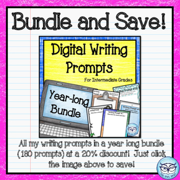 "Digital Writing Prompts for the Intermediate Classroom:  ""If I Were..."" Prompts"