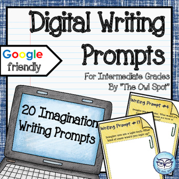 Writing Prompt Digital Task Cards: Narrative Story Prompts