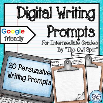 Writing Prompt Digital Task Cards: Persuasive Prompts
