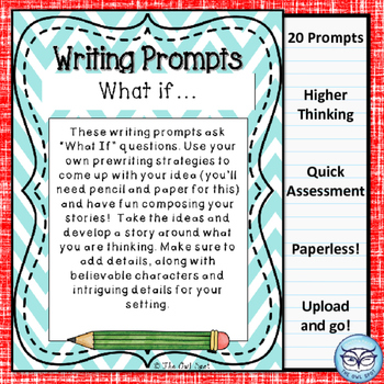 Writing Prompt Digital Task Cards: What If Prompts