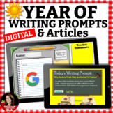 Digital Writing Prompts with RACE Strategy Full Year