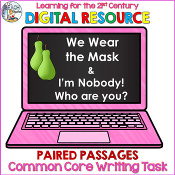 Digital Writing Task Resource: We Wear the Mask & I'm Nobody!  Who are you?