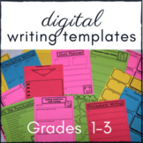 Digital Writing Templates for Distance Learning -Gr 1-3 -G