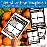 Digital Writing Templates for Pic Collage-Winter Themed
