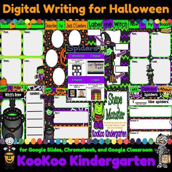 Digital Writing for Halloween (Google Slides, Google Classroom, and Seesaw)