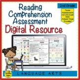 Digital Year Long Second Grade Reading Comprehension Asses