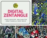 Digital Zentangle Design Enhanced With Photoshop