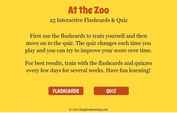 Digital Zoo Animals Flashcards and Quizzes