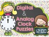 Digital and Analog Clock Puzzles