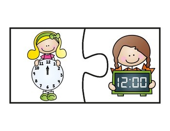 Digital and Analog Clock Puzzles