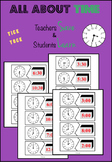 Digital and Analog Clock Puzzles - hour and half hour
