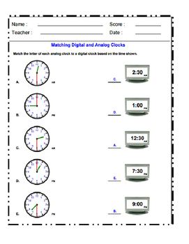 Digital and Analog Clocks