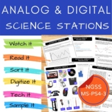 Middle School NGSS Digital and Analog Signals MS-PS4-3 Stations