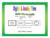 Digital and Analog Time to hour and half hour - 5 Game Bundle