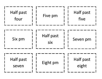 Digital and Analog Time to hour and half hour - Odd Number Out Game