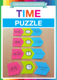 Digital and Analogue Time Puzzle - Fun Math Activity