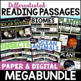 Digital and Paper Differentiated Reading Passages MegaBund