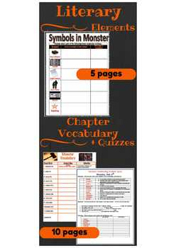 Digital and Paper! Monster by Walter Dean Myers Complete Novel Study