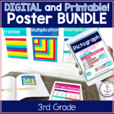 Digital and Printable 3rd Grade Math Anchor Chart Posters distance learning