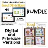 Digital and Printable BUNDLE: Food Direction Books