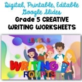 Digital and Printable Distance Learning Grade 5 Creative W