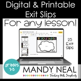 Digital & Printable Exit Slips  | Exit Tickets | Distance