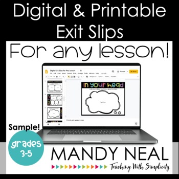 This is an image of Printable Exit Tickets with downloadable