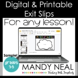Digital & Printable Exit Slips | FREE | Distance Learning