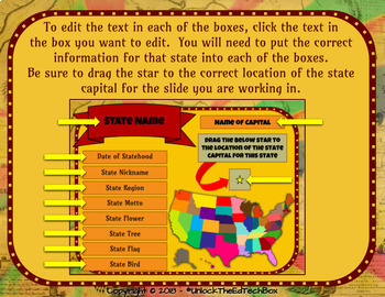 Digital and Printable Identify the 50 States Activity in Google Slides