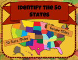 Digital and Printable Identify the 50 States Activity in G