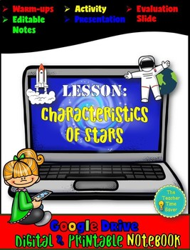 Digital and Printable Lesson- Characteristics of Stars