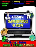 Characteristics of Stars- Digital and Printable Astronomy Lesson