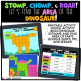 Digital and Printable Math Activity:  Find the Area of the