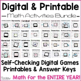 Digital and Printable Math Games Bundle